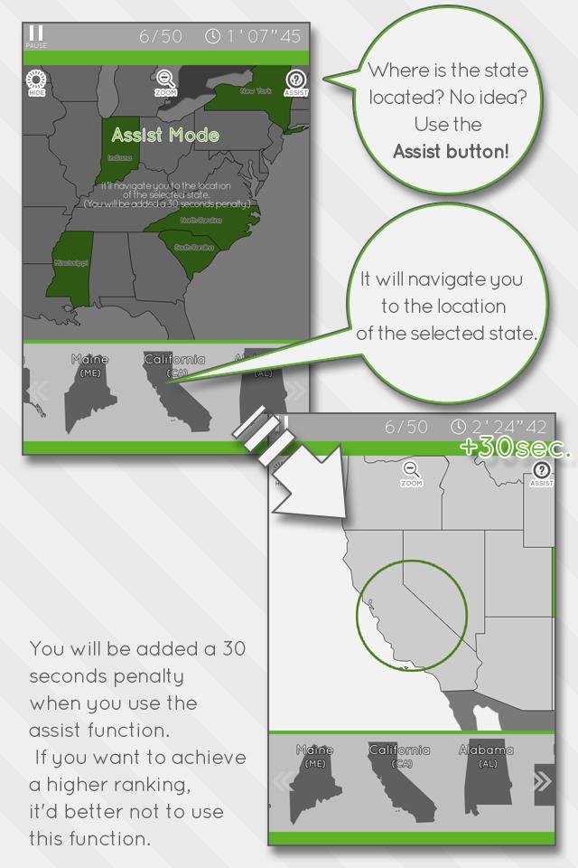 Screenshot Enjoy Learning U.S. Map Puzzle