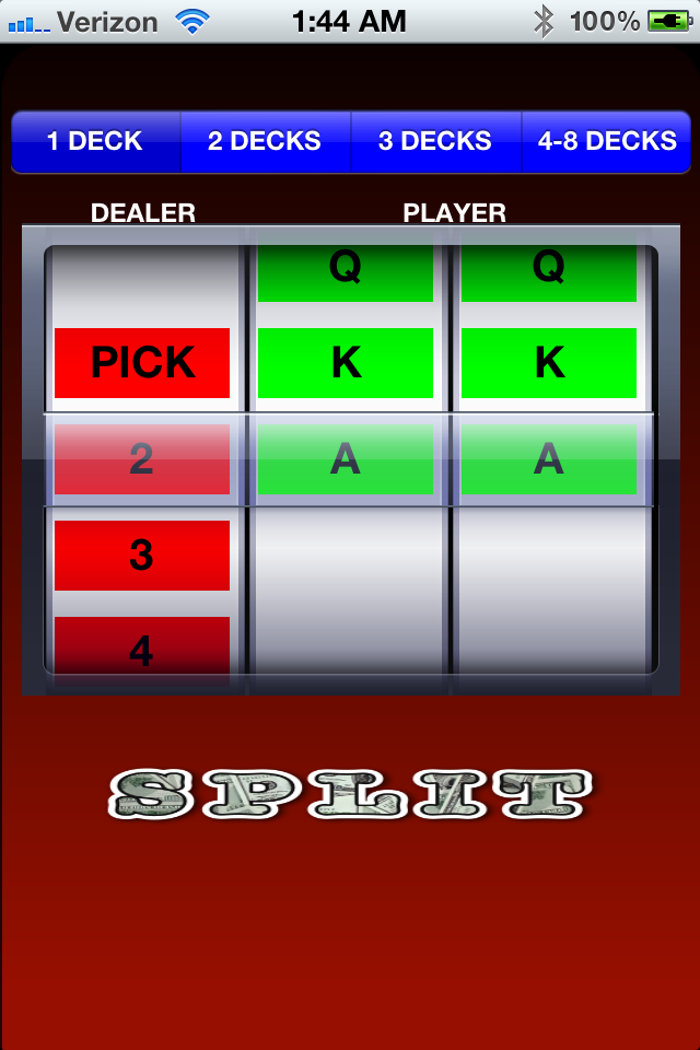 Screenshot What's The Deal: Black Jack Strategy App