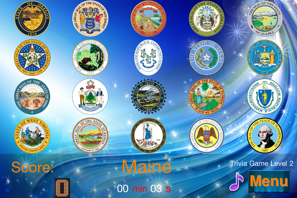 Screenshot Master USA State Seals